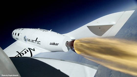 Virgin Galactic's SpaceShipTwo on successful April 29, 2013 test flight