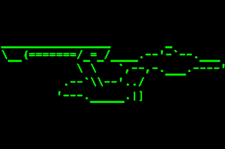 USS Enterprise in Ascii