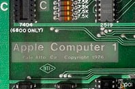 Detail of Apple 1 Board
