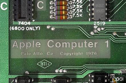 Detail of Apple 1 Board