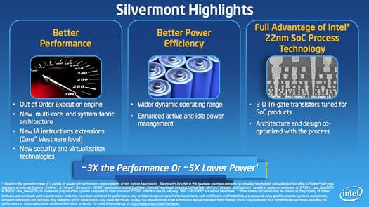 Intel Silvermont Atom processor architecture: highlights
