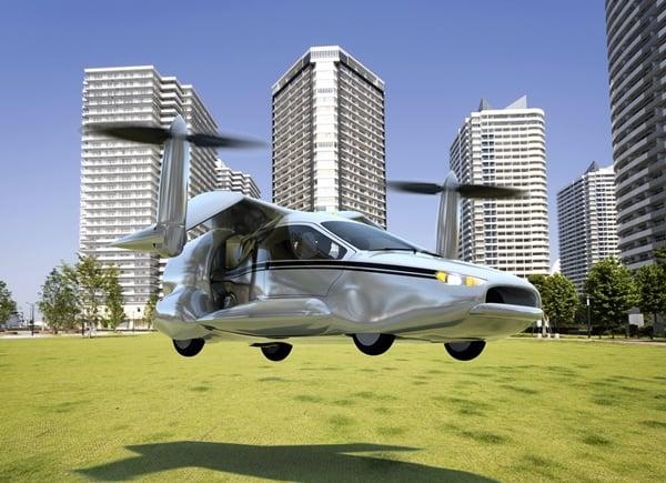 Terrafuiga TF-X VTOL flying car takeoff