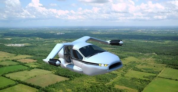 Terrafuiga TF-X VTOL flying car flight