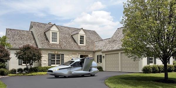 Terrafuiga TF-X VTOL flying car parked