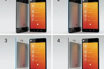 The four designs under consideration for the ethical 'Fairphone'