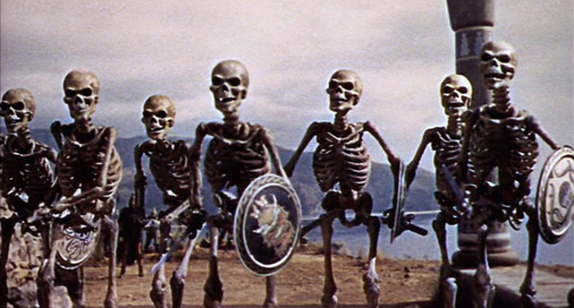 "Ray Harryhausen's skeleton army from ""Jason and the Argonauts"""