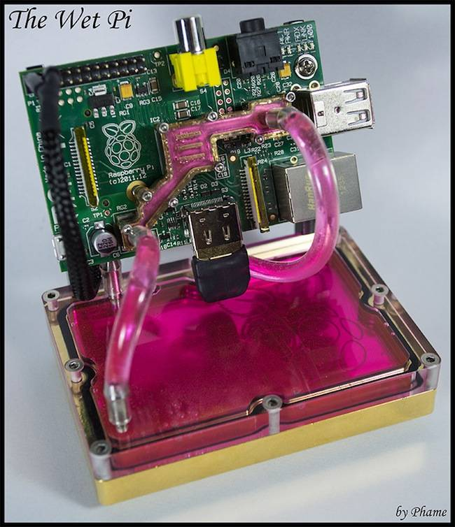The 'WetPi' liquid-cooled Raspberry Pi