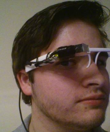 Nathan Myer's FLASS home-brew Google Glass alternative