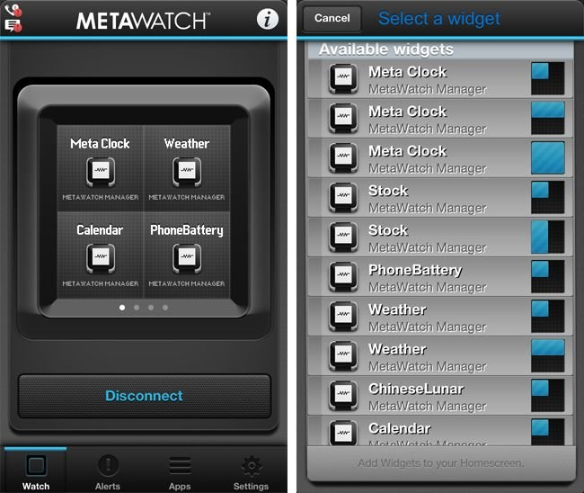 MetaWatch Frame app
