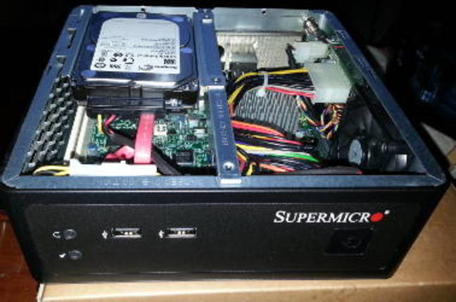 Intel Centerton in a Supermicro Chassis