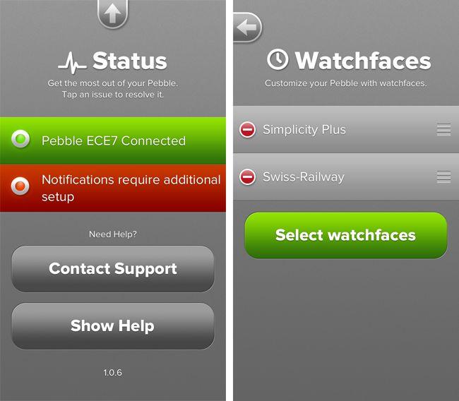 Pebble smartwatch app