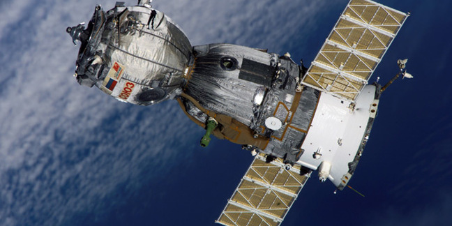 Soyuz TMA-7 as seen from the International Space Station in October 2005. Pic: NASA
