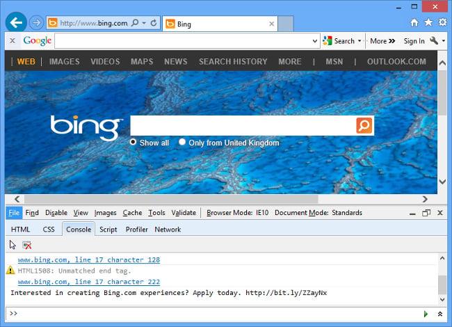 Microsoft Conceals Job Ad In Bing Homepage • The Register