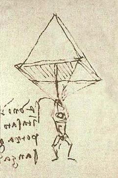 Da Vinci's sketch of a parachute