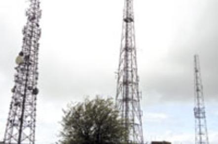 Cleeve Hill aerial masts - Arqiva site 36223