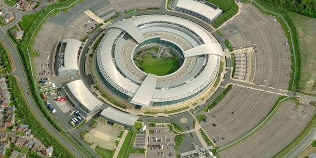 GCHQ Benhall doughnut aerial view