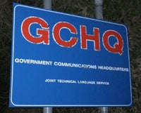 GCHQ Oakley Sign