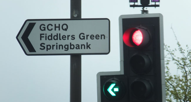 GCHQ road sign