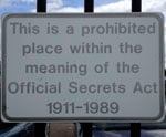 Official Secrets Act street sign