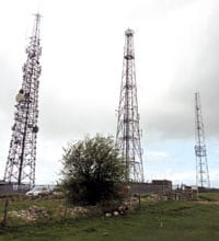 Cleeve Hill aerial masts - Arqiva site 36223