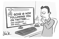 GCHQ is following you on Twitter, Faceboo, email...