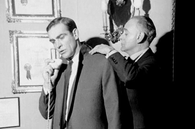 Bond tries to decipher is tailor