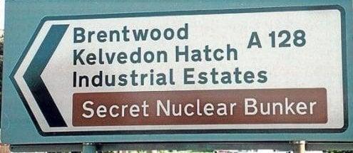 Kelvedon Hatch secret nuclear bunker signpost