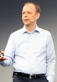 Photo of Intel director of systems engineering, Mark Skarpness