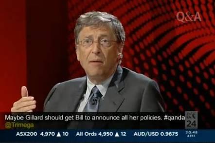 Bill Gates on Australian television program Q&A