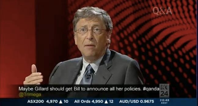 Bill Gates on Australian television program Q&A
