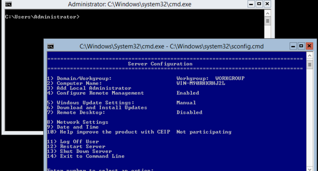 Hyper-V powershell screenshot