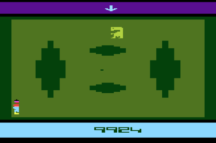 Screenshot of E.T. the Extra-Terrestrial for the Atari 2600