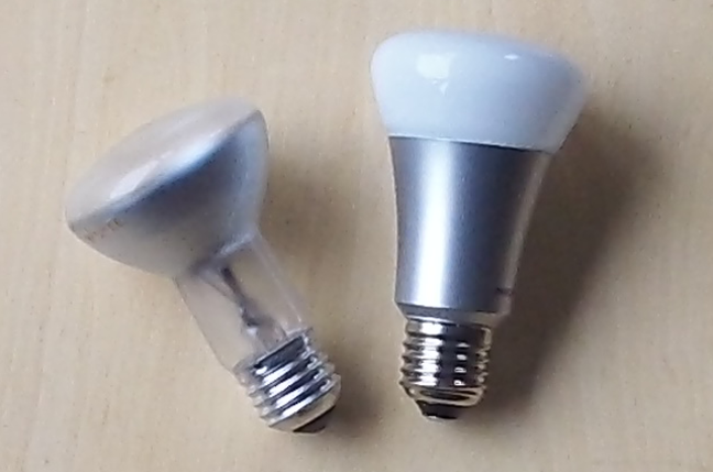 Compared to a normal bulb