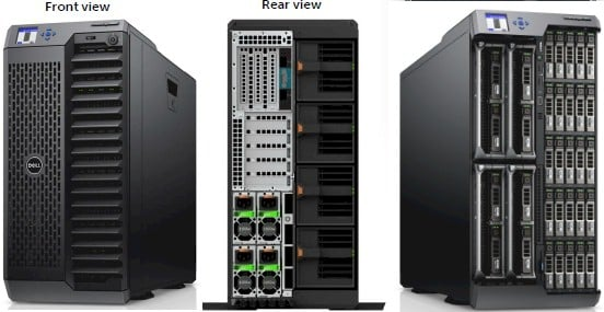 The back and front and wardrobe malfunction shots for the PowerEdge VRTX
