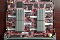 The four-socket Moonshot server card from HP using the Opteron X chip
