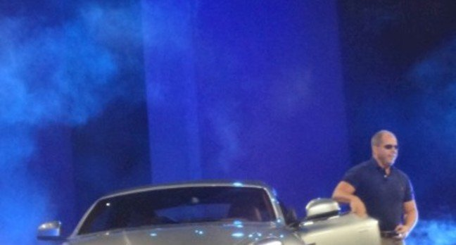 Brad Anderson arrives Bond-style at TechEd in an Aston Martin