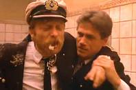 Kapitaenleutnant Thomsen being sick