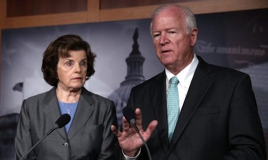 Senators Dianne Feinstein (D-CA) and Saxby Chambliss (R-GA)
