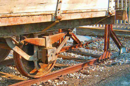 Rusty rail wagon