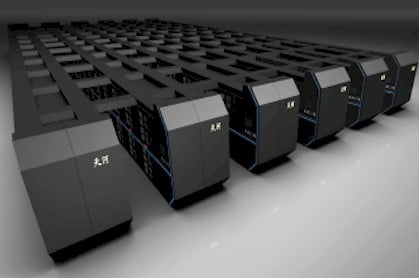 Artist rendering of China's shiny newTianhe-2 supercomputer