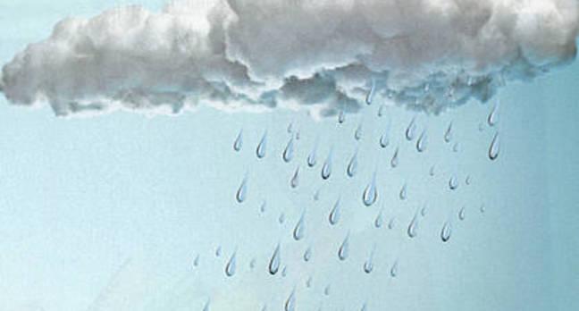 big droplets falling from rain cloud