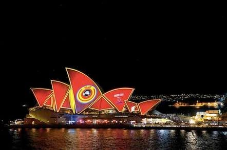The Sydney Opera House during the Vivid Festival