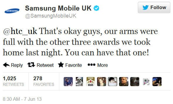 Samsung hit back at HTC