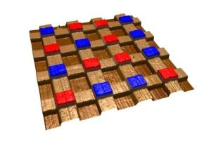 Image of bismuth ferrite lattice