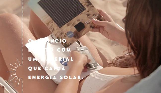 Nivea's free Brazilian solar phone charger