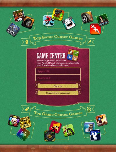 Game Center as it appeared in iOS 5 and 6