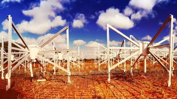Murchison Widefield Array telescope installation