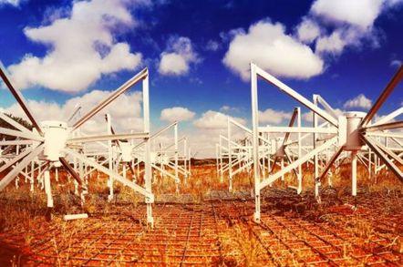 Murchison Widefield Array telescope installation