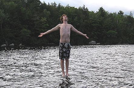 Man walks on water like Jesus
