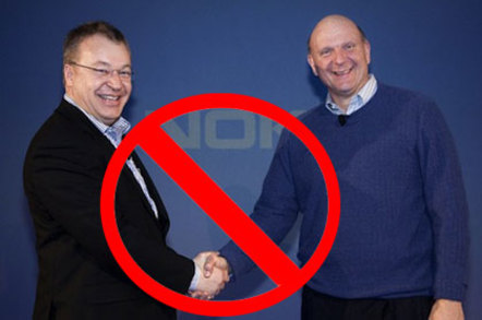 Elop and Ballmer, no deal